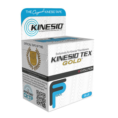"Kinesio® Tape, Tex Gold FP, 2"" x 5.5 yds, Blue, 1 Roll"