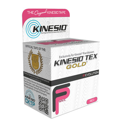 "Kinesio® Tape, Tex Gold FP, 2"" x 5.5 yds, Red, 1 Roll"