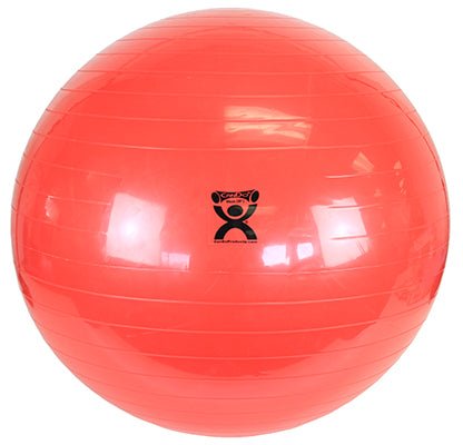 "CanDo® Inflatable Exercise Ball - Red - 38"" (95 cm)"