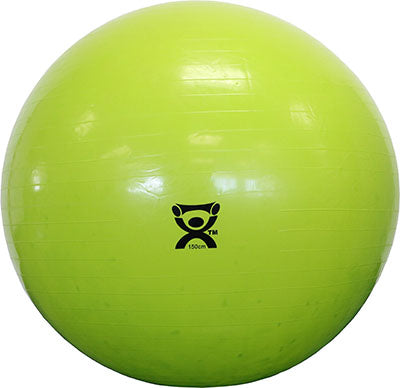 "CanDo® Inflatable Exercise Ball - Lime Green - 59"" (150 cm)"