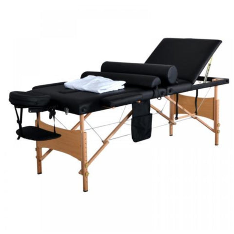 "Portable Massage Table 2 section  2 "" Pad in Black"