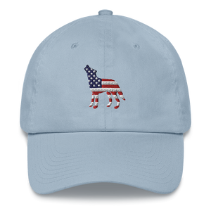 USA Wolf Dad Hat