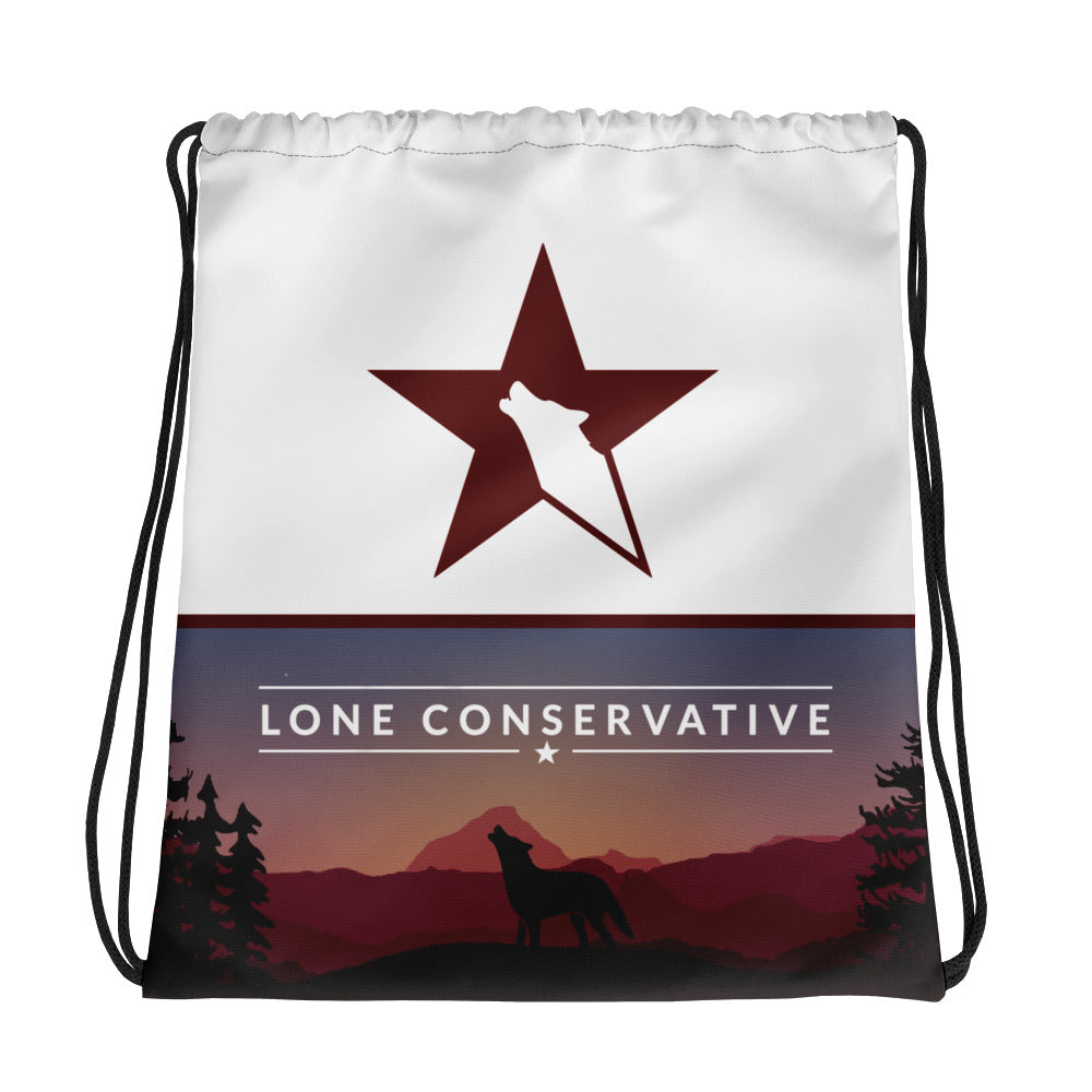 Lone Conservative Drawstring Bag