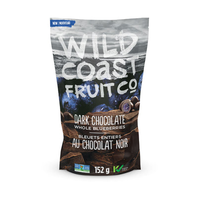 Wild Coast Dark Chocolate Whole Blueberries front package