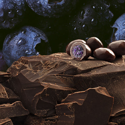 Dark Chocolate covered whole blueberry