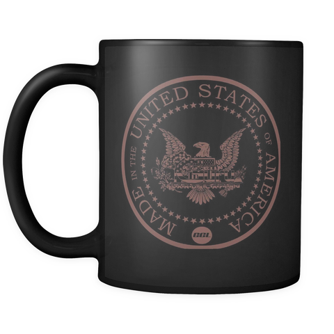 GGL Made In USA Black Matte Coffee Mug