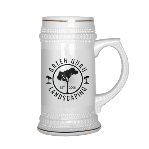 Green Guru Landscaping Modern Design Beer Mug