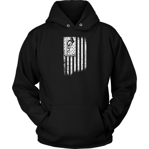 The Worn Flag Green Guru Landscaping Hoodie