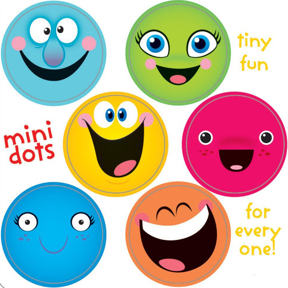 Smiley Face Mini Dot Stickers