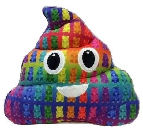 Emoji Poop Pillow - Gummy Bear Scented