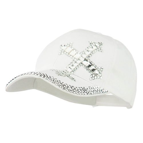 Rhinestone Cross Jeweled Cap