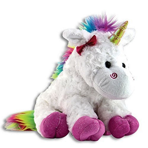 Plush Rainbow Unicorn by The Petting Zoo