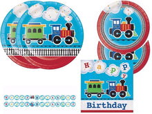 All Aboard Train Birthday Party Kit for 16 Guests