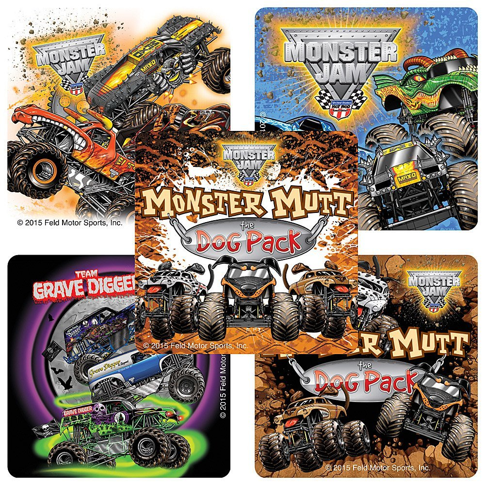 Monster Truck Stickers
