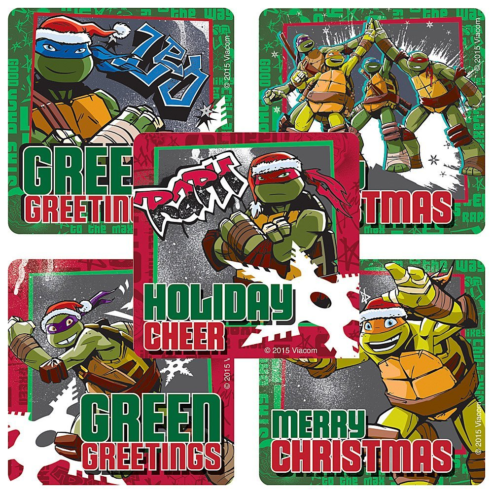 Teenage Mutant Ninja Turtles Christmas Stickers - 75 Stickers ...