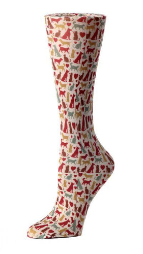 Cutieful Therapeutic Compression Socks - Autumn Cats and Dogs