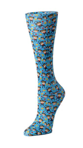 Cutieful Therapeutic Compression Socks - Blue Monkey