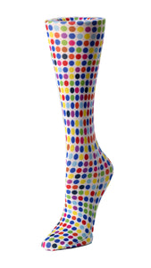 Cutieful Therapeutic Compression Socks - Multi-Colored Polka Dot