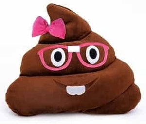 Emoji Poop Pillow Nerd Girl