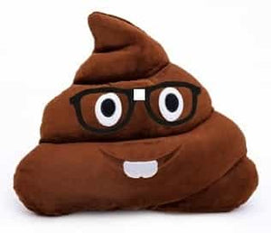 Emoji Poop Pillow Nerd Boy