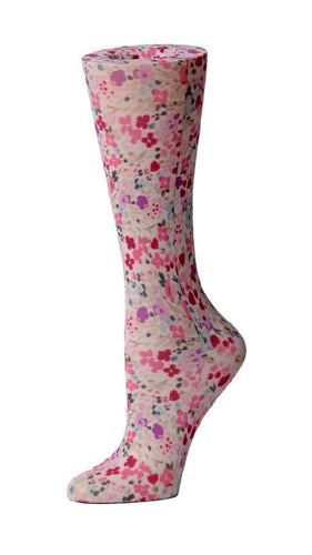Cutieful Therapeutic Compression Socks - Painted Flowers