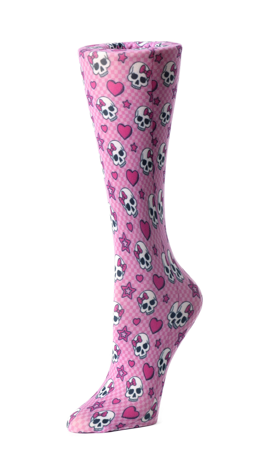 Cutieful Therapeutic Compression Socks - Pink Skulls