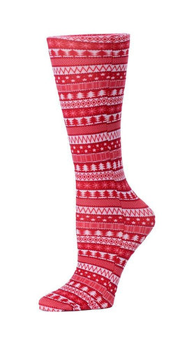 Cutieful Therapeutic Compression Socks - Red Winter