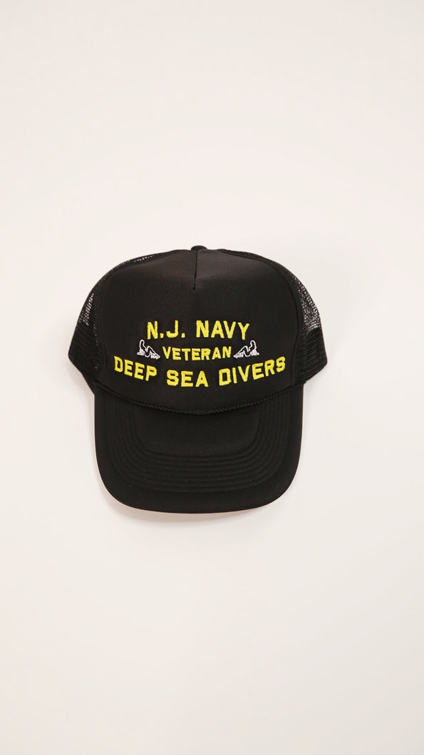NJ Navy Trucker Hat