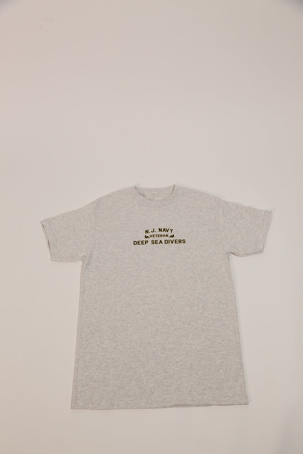 NJ Navy Tee-Grey