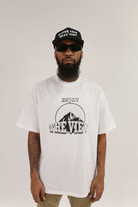 ENJOY THE VIEW ESSENTIAL TEE-WHITE