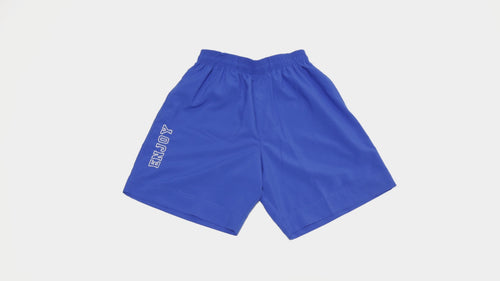 ENJOY Varsity Shorts-Blue