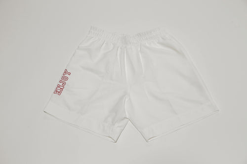 ENJOY Varsity Shorts-White