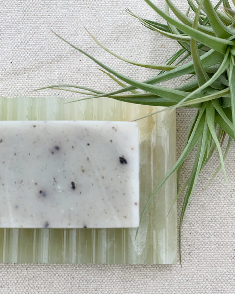 Seshin Korean Scrub Soap on Soap Dish