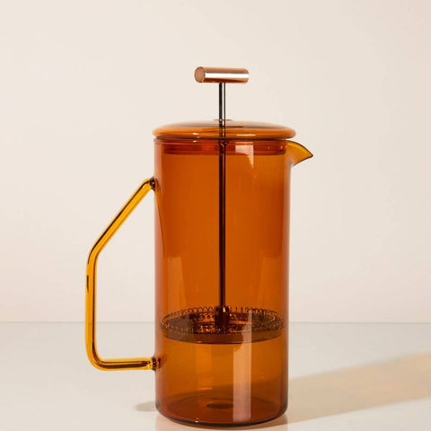 The amber glass french press by Yield