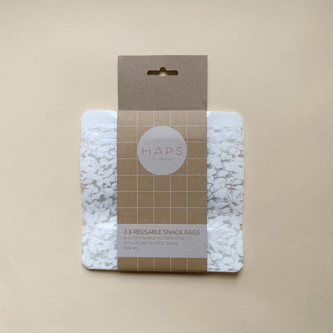3 Pack Small Terrazzo Snack Bags by Haps Nordic