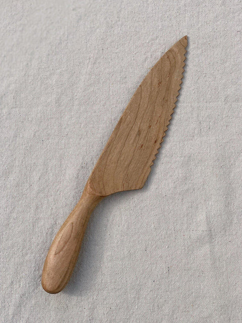 Maple Wood Cake Knife by Four Leaf Wood Shop