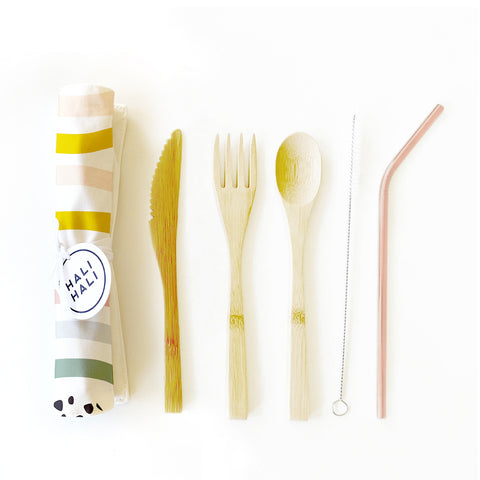 Reusable Cutlery Set - Prism Print by Hali Hali