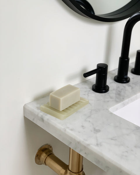 Binu Binu Soap Bar and Green Onyx Marble Dish | H. SMITH