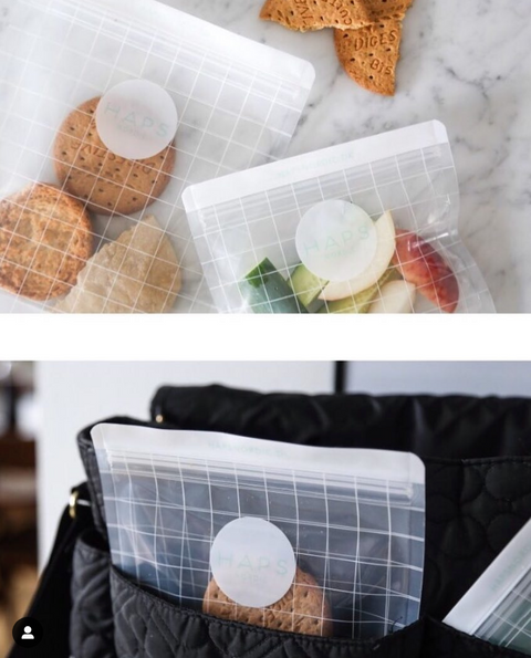 3-Pack of Small Checked Snack Bag by Haps Nordic