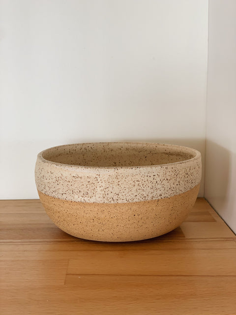 Creamy Speckle Ceramic Bowl by Hannah Garvin