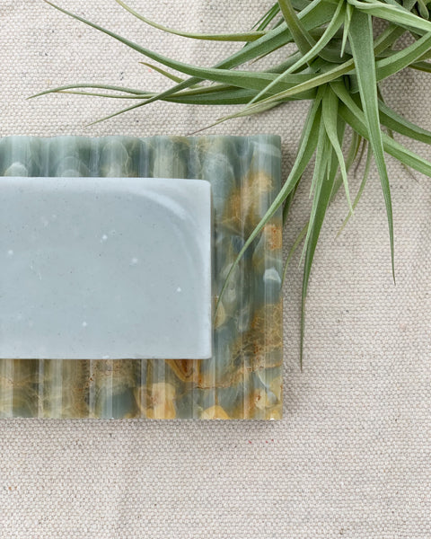 Blue Haenyeo Sea Woman Soap and Blue Marble Soap Dish