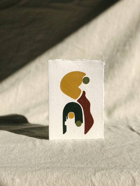 Hand Painted Geometric Card by Ayse Sirin Budak | H. SMITH