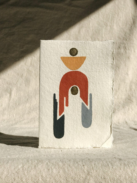 Geometric Hand Painted Card by Ayse Sirin Budak | H.SMITH