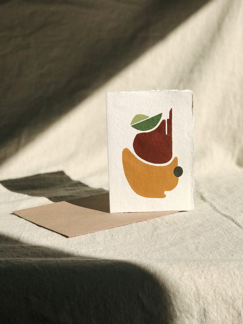 Geometric Hand Painted Card with Envelope | H.SMITH