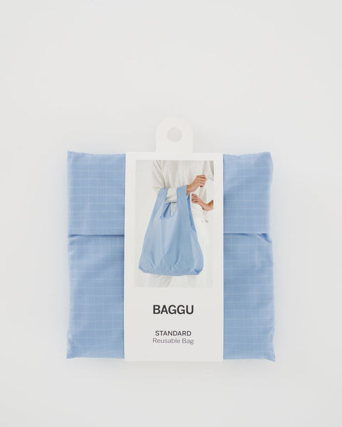 Packaged Sky Blue Standard Baggu Reusable Bag