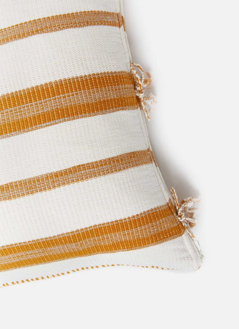 Marigold Goldenrod Super Soft Pillow Details by Heather Taylor Home