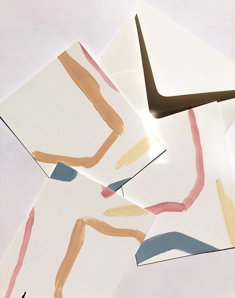 Minimal Painted Notecard Set by Wilde House Paper