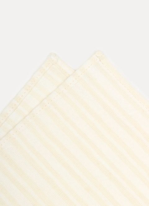 Multi Stripe Blanc Napkin Details by Heather Taylor Home