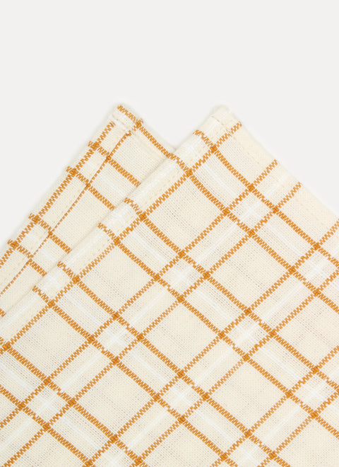 Open Plaid Goldenrod Napkin Details by Heather Taylor Home