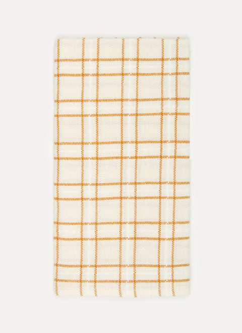 Open Plaid Goldenrod Napkins by Heather Taylor Home